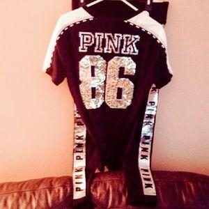 Super Cute Sequin!(Victoria Secret Pink ) pants